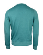 Crew Neck Tröja Vintage Summer Merino AquaGreen