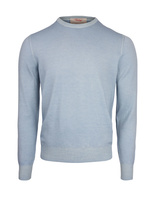 Crew Neck Tröja Vintage Summer Merino LightBlue