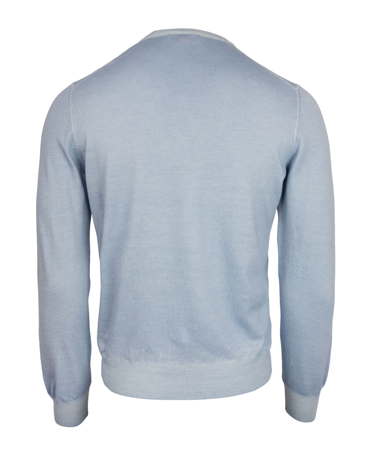 Crew Neck Vintage Summer Merino Light Blue