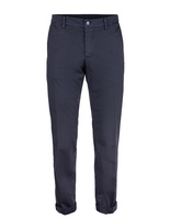 New York Regular Fit Chinos Cotton Satin Stretch Blue Navy