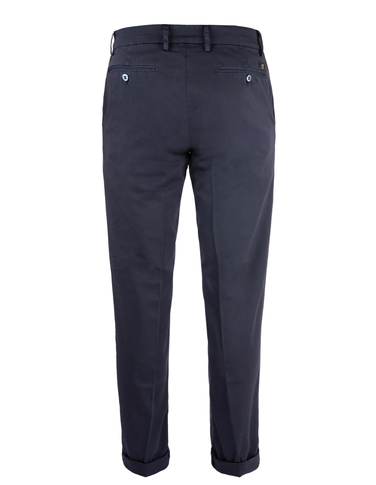 New York Regular Fit Chinos Satin Bomull Stretch Blue Navy