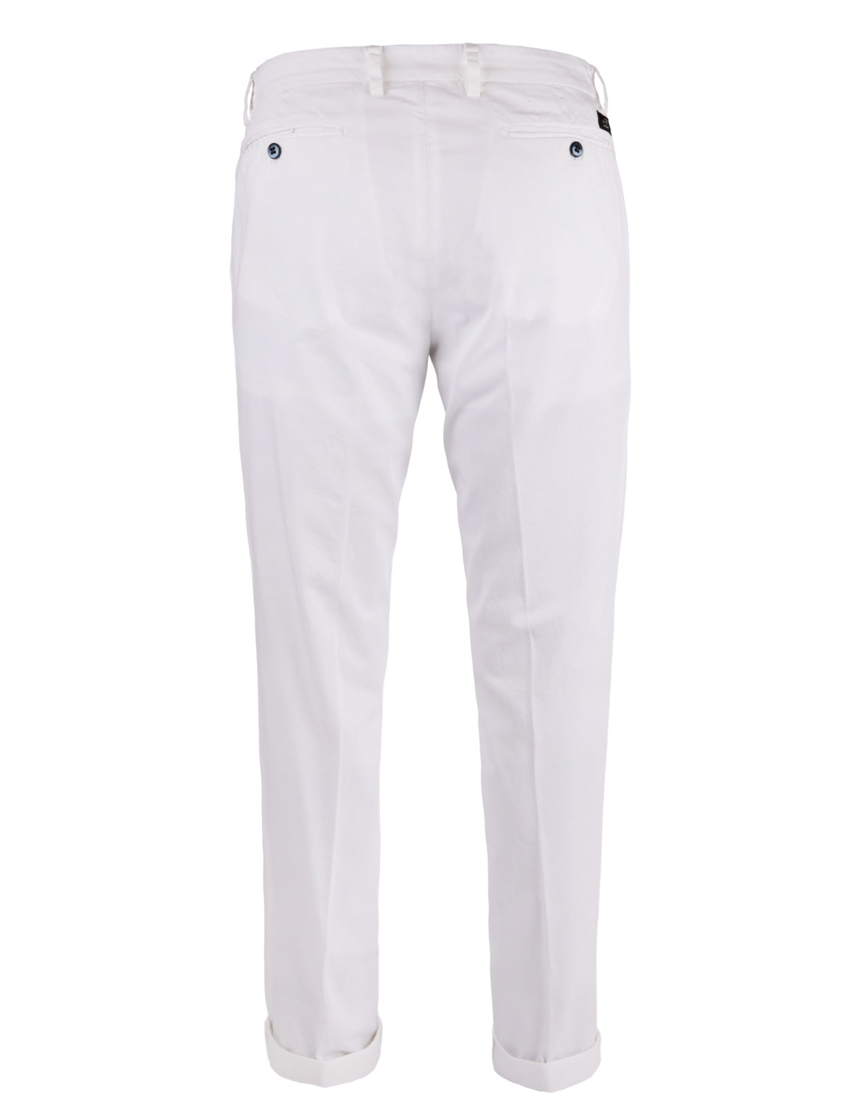 New York Regular Fit Chinos Cotton Satin Stretch White