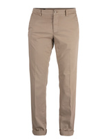 New York Regular Fit Chinos Satin Bomull Stretch Beige
