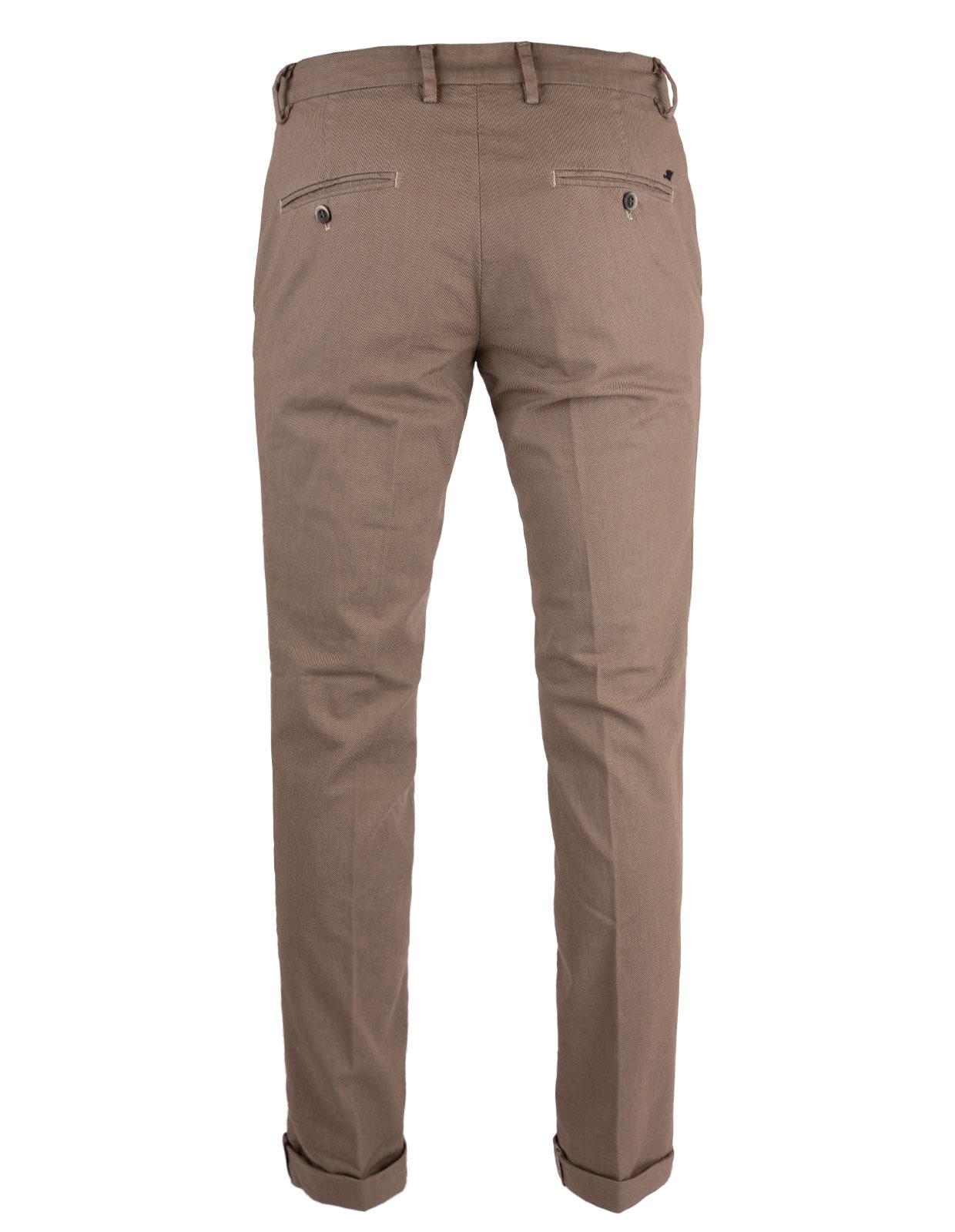 Milano Slim Chinos Bomull Stretch Mikromönster Light Brown