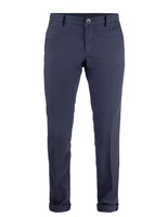Milano Slim Chinos Cotton Stretch Micro Pattern Indigo