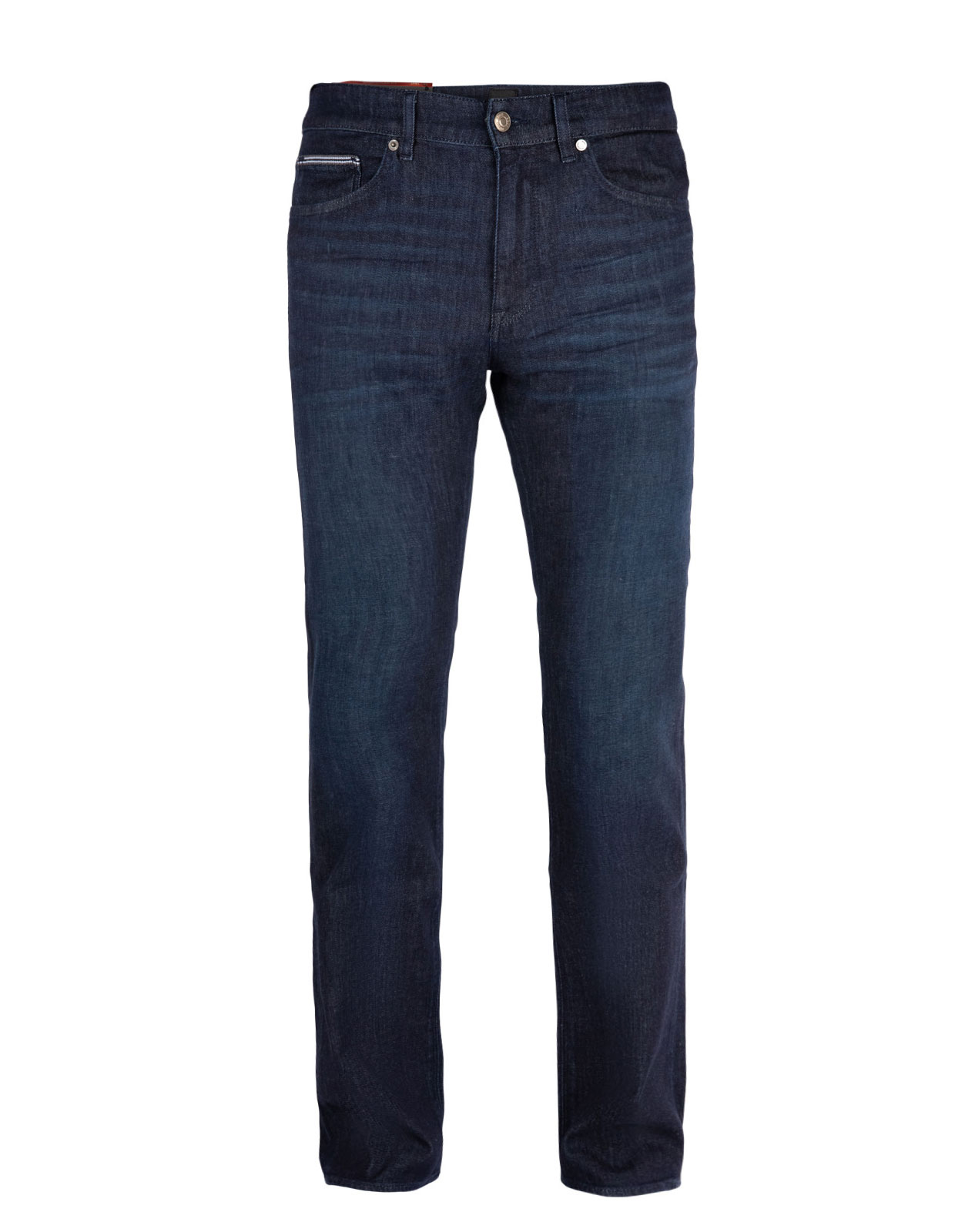 Maine Regular Fit Jeans Lightweight Stretch Denim Dark Blue