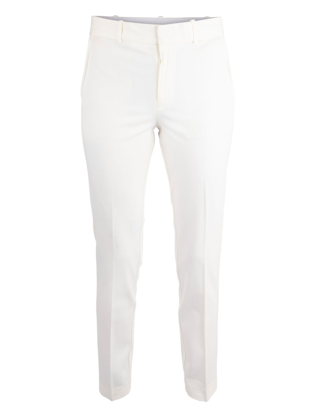 Slim straight pants Warm White