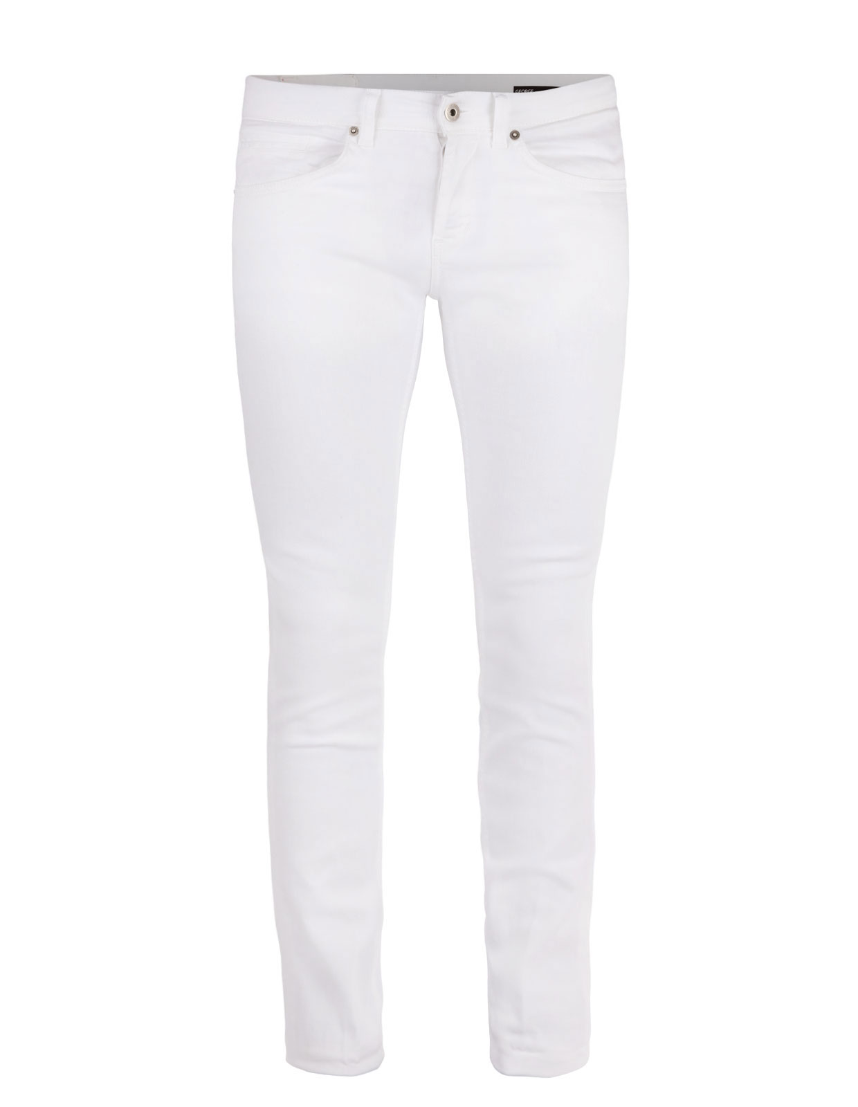George Skinny Jeans Bull Denim Stretch White