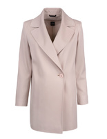 Wool coat with collar Sand