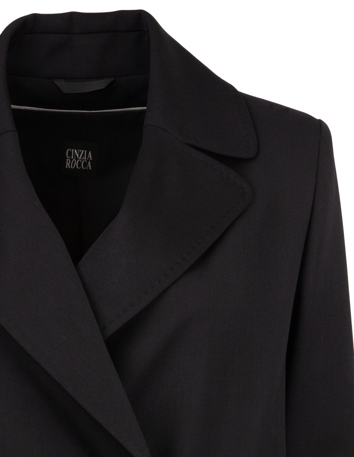 Wool coat with collar Black