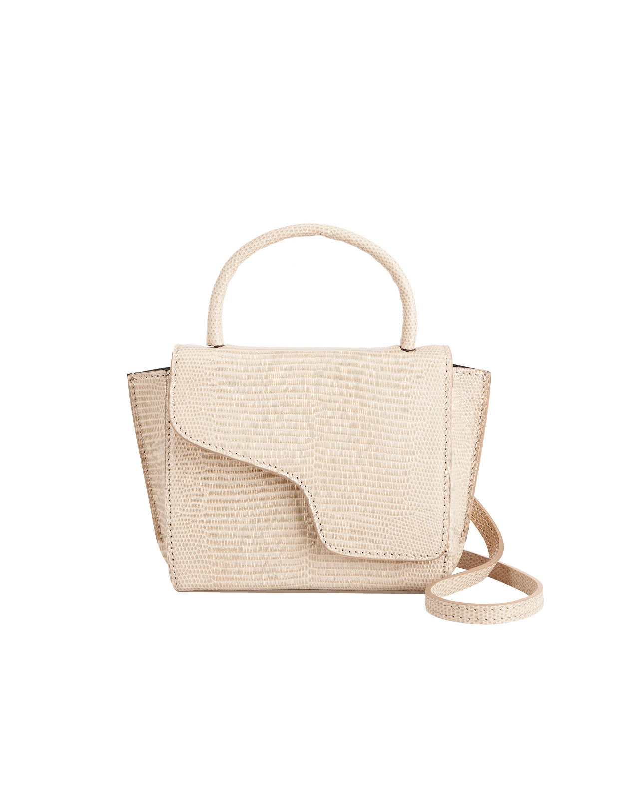 Montalcino Mini Handbag Printed Beige Watersnake