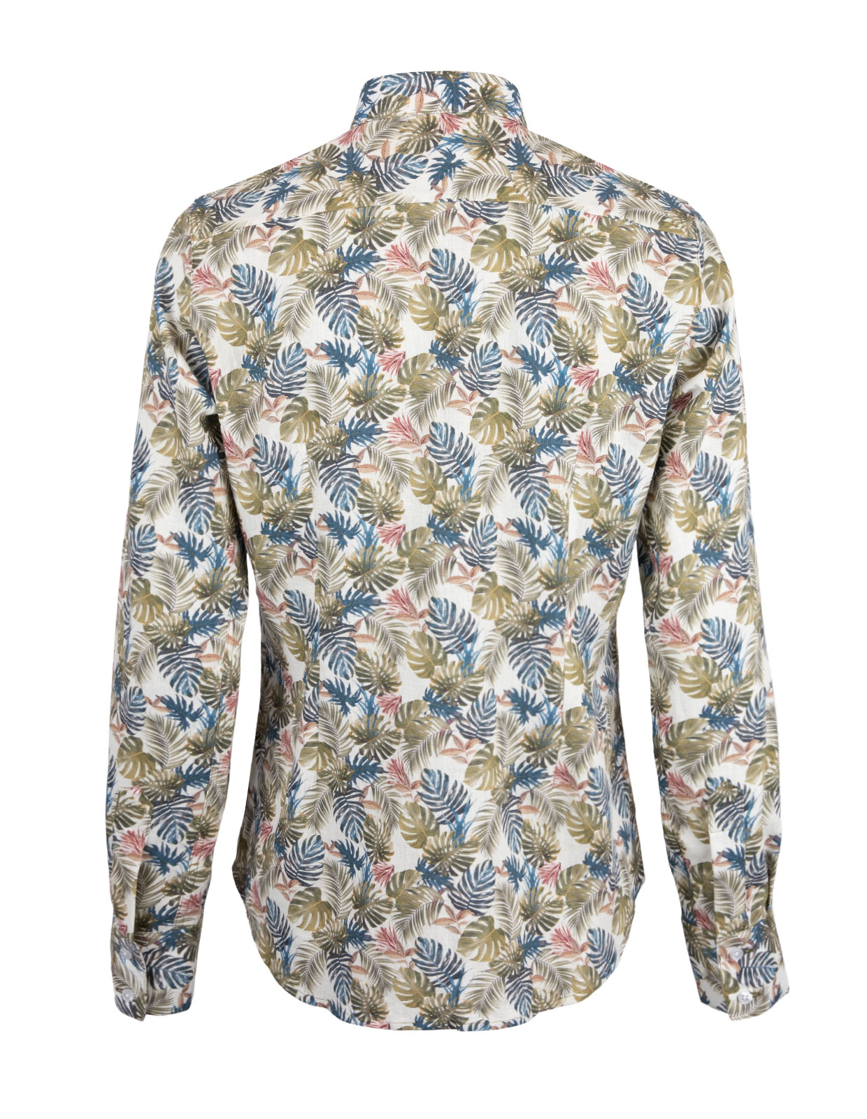 Shirt Long Sleeve Leaf Print