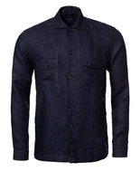 Overshirt Linen Dark Navy