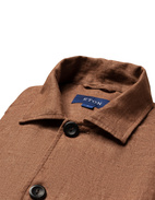 Overshirt Linen Brown Stl XL