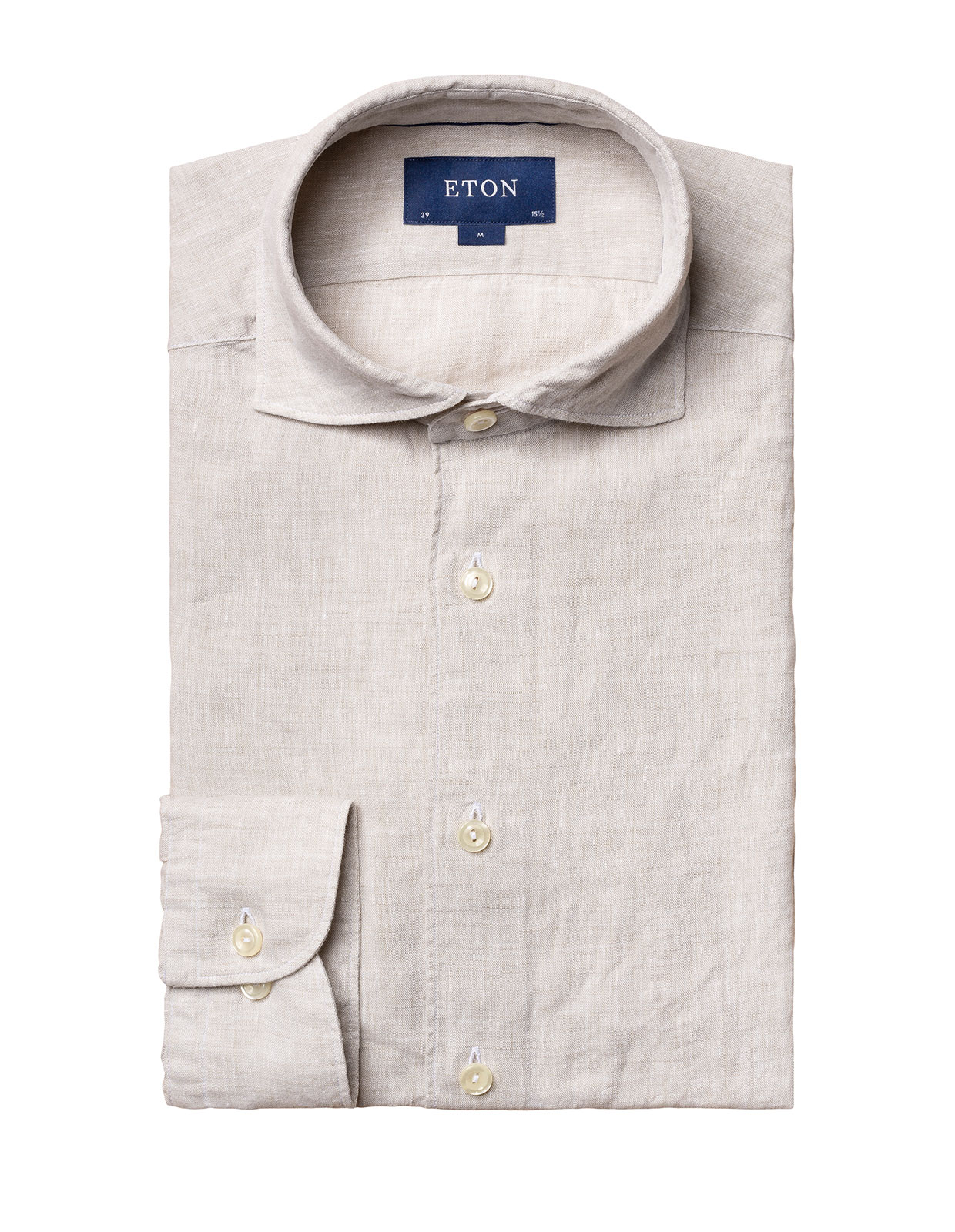 Slim Fit Soft Linen Shirt Grey