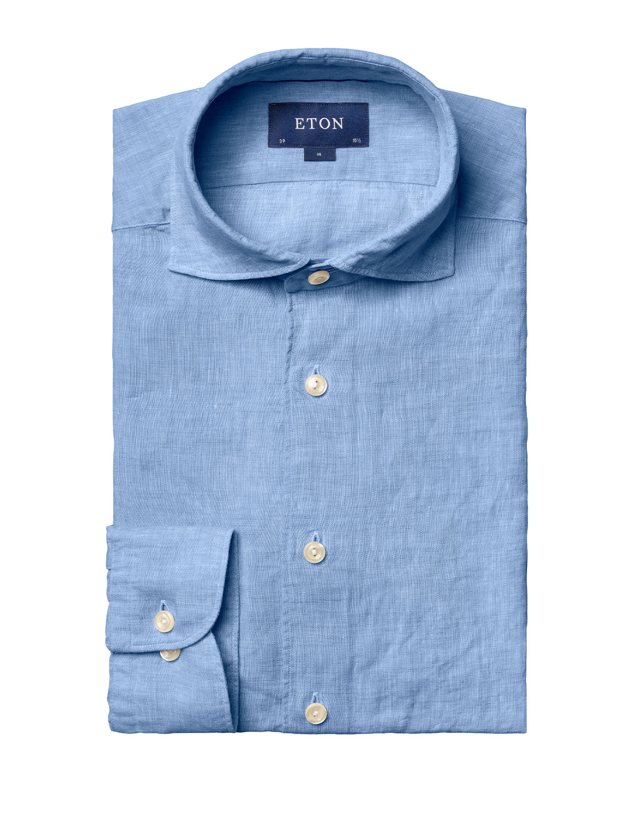 Slim Fit Soft Linen Shirt Blue Stl 38