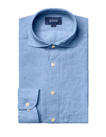 Slim Fit Soft Linen Shirt Blue