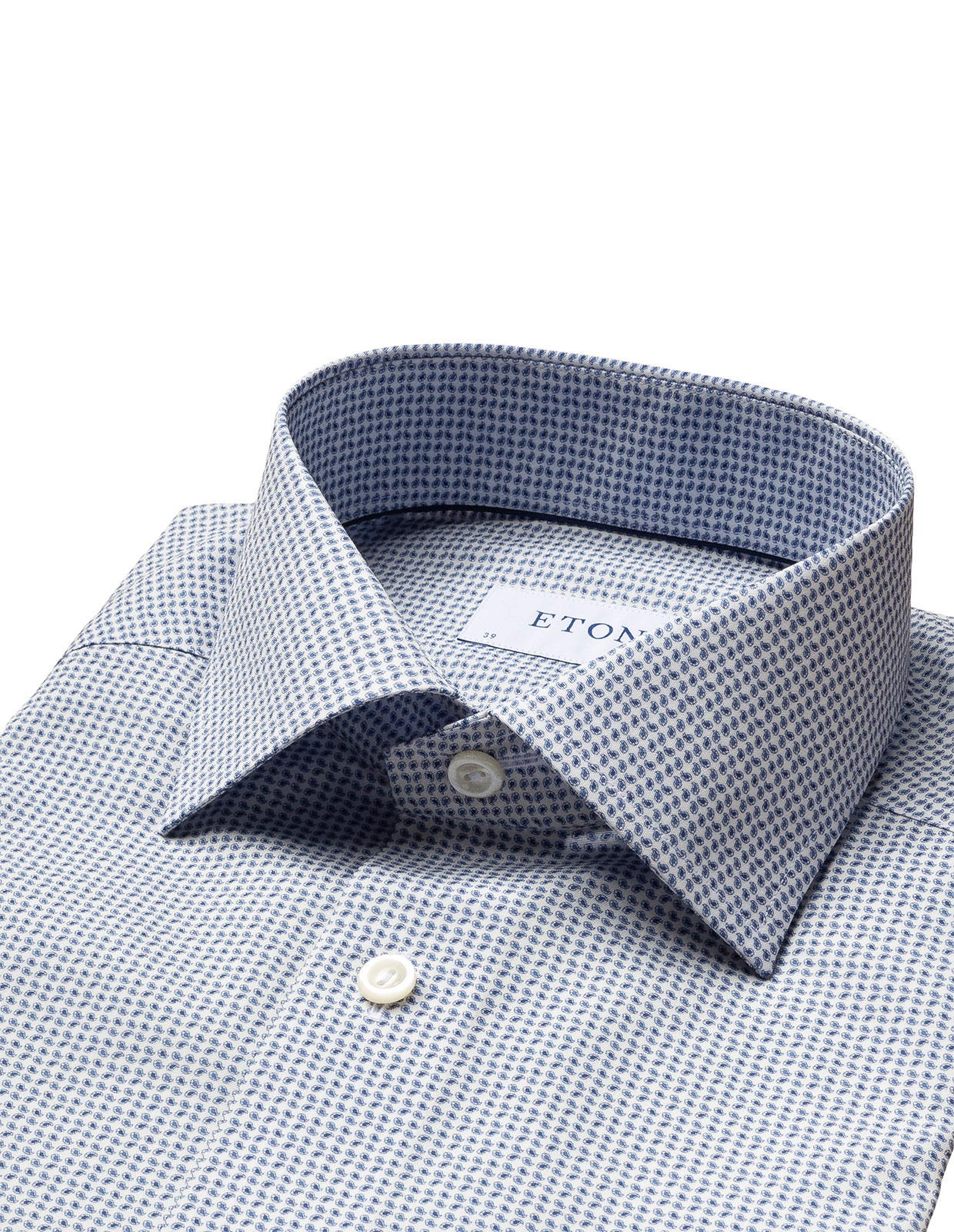 Slim Fit Mini Paisley Shirt Blue