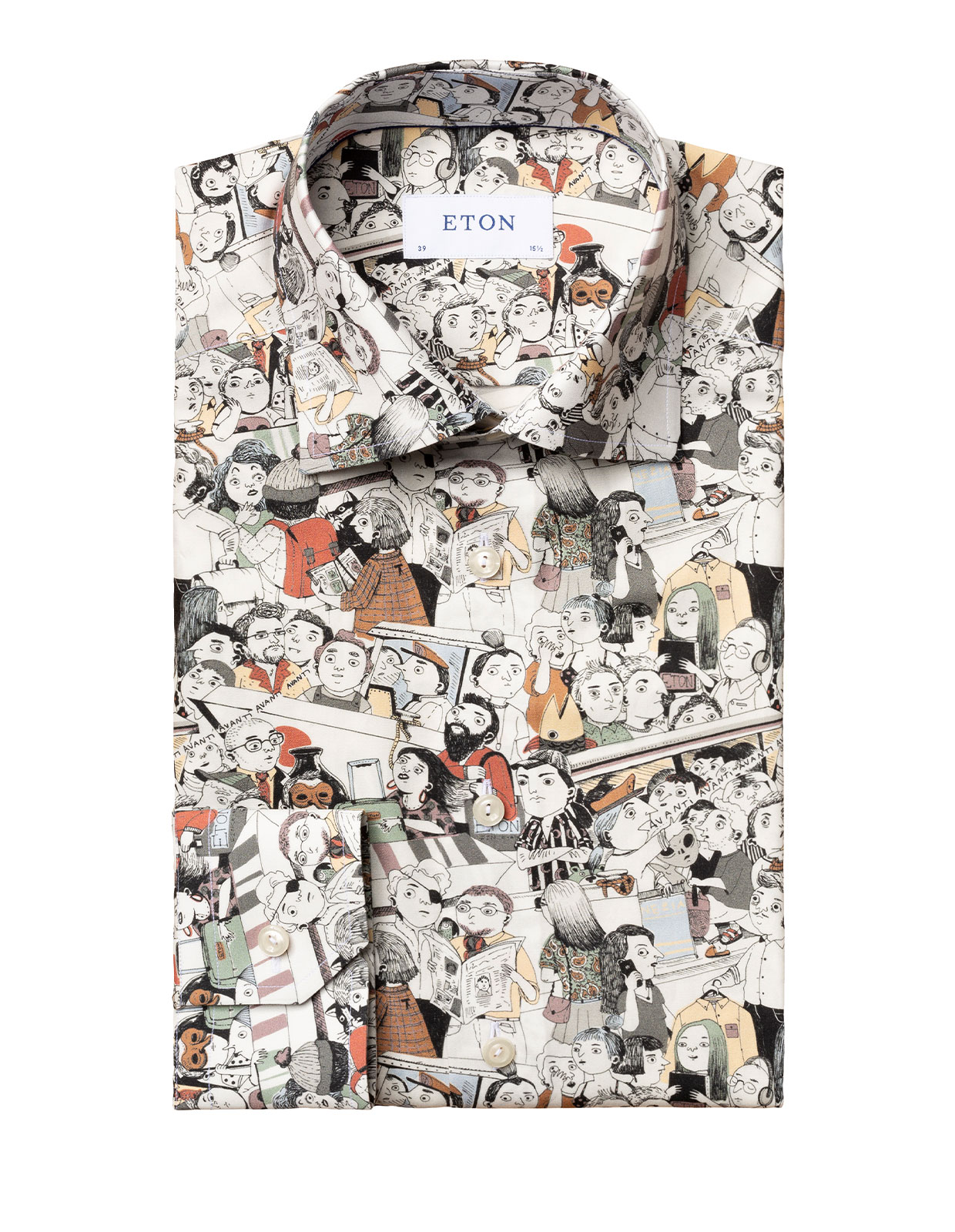 Slim Fit The Visitors Print Shirt White Stl 39