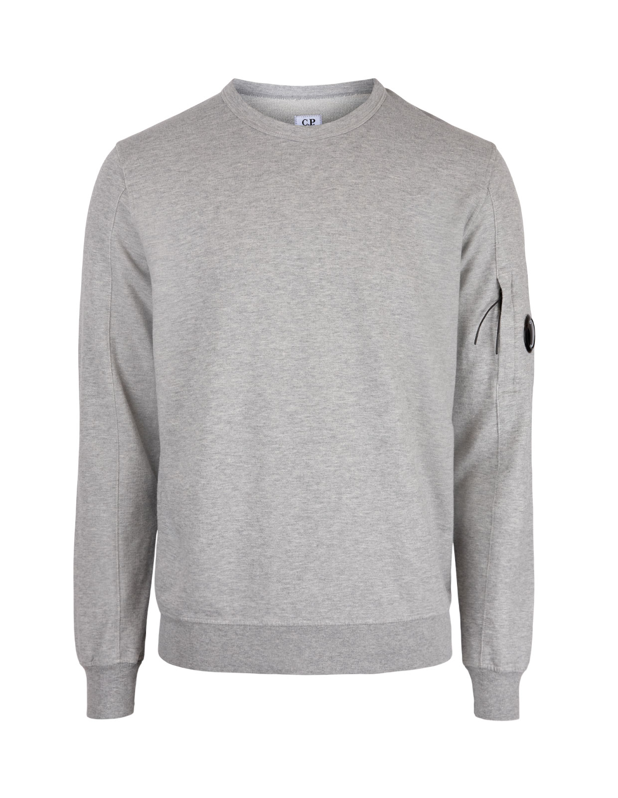 Light Fleece Garment Dyed Sweatshirt M Grey Melange