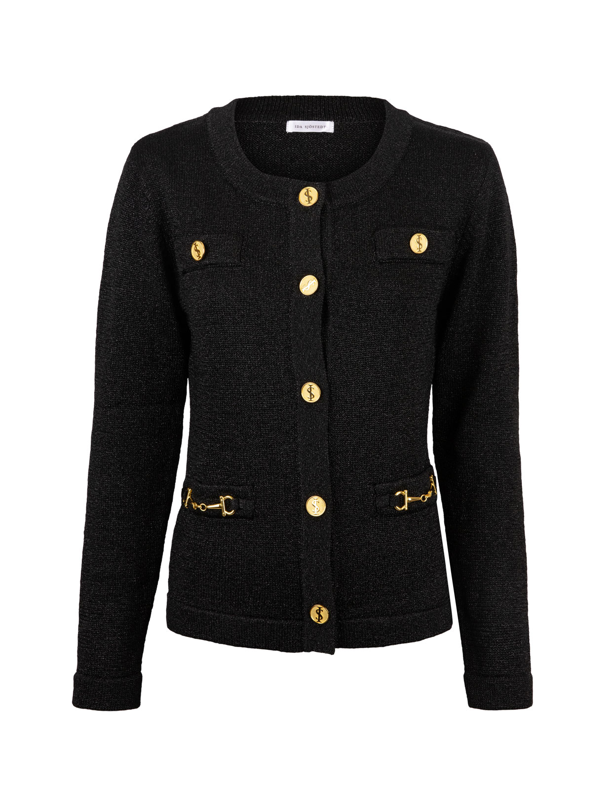 Cardigan Noble Lurex Black