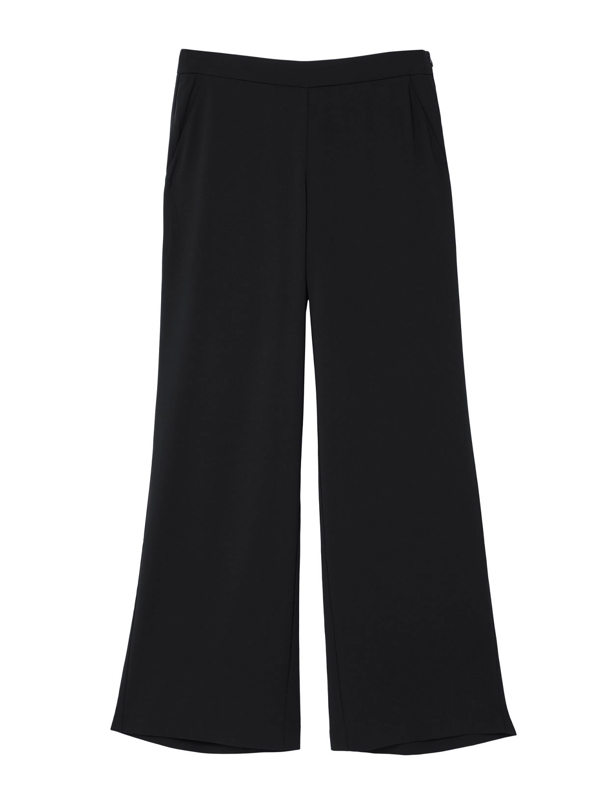 Ingrid trousers front zip Black