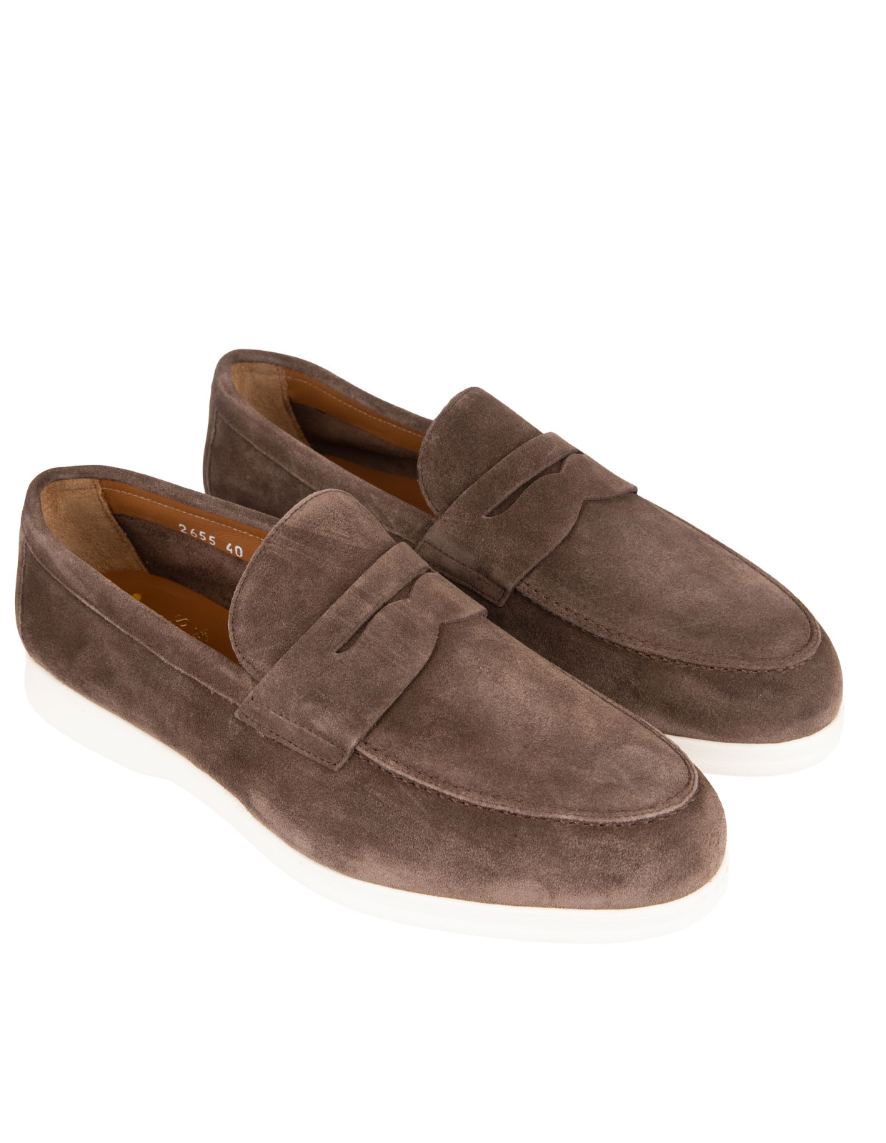 Penny Loafer Sneaker Suede M  Washed Coffee