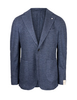 Jack Regular Jersey Jacket Linen Cotton Italy Blue