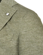 Jack Regular Jersey Jacket Linen Cotton Green