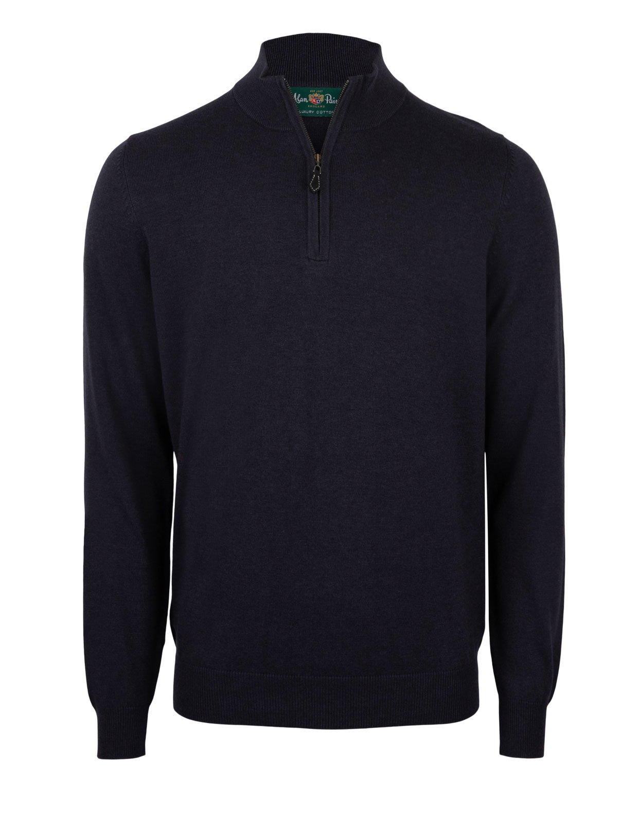 Selhurst Half Zip Cotton Cashmere Navy