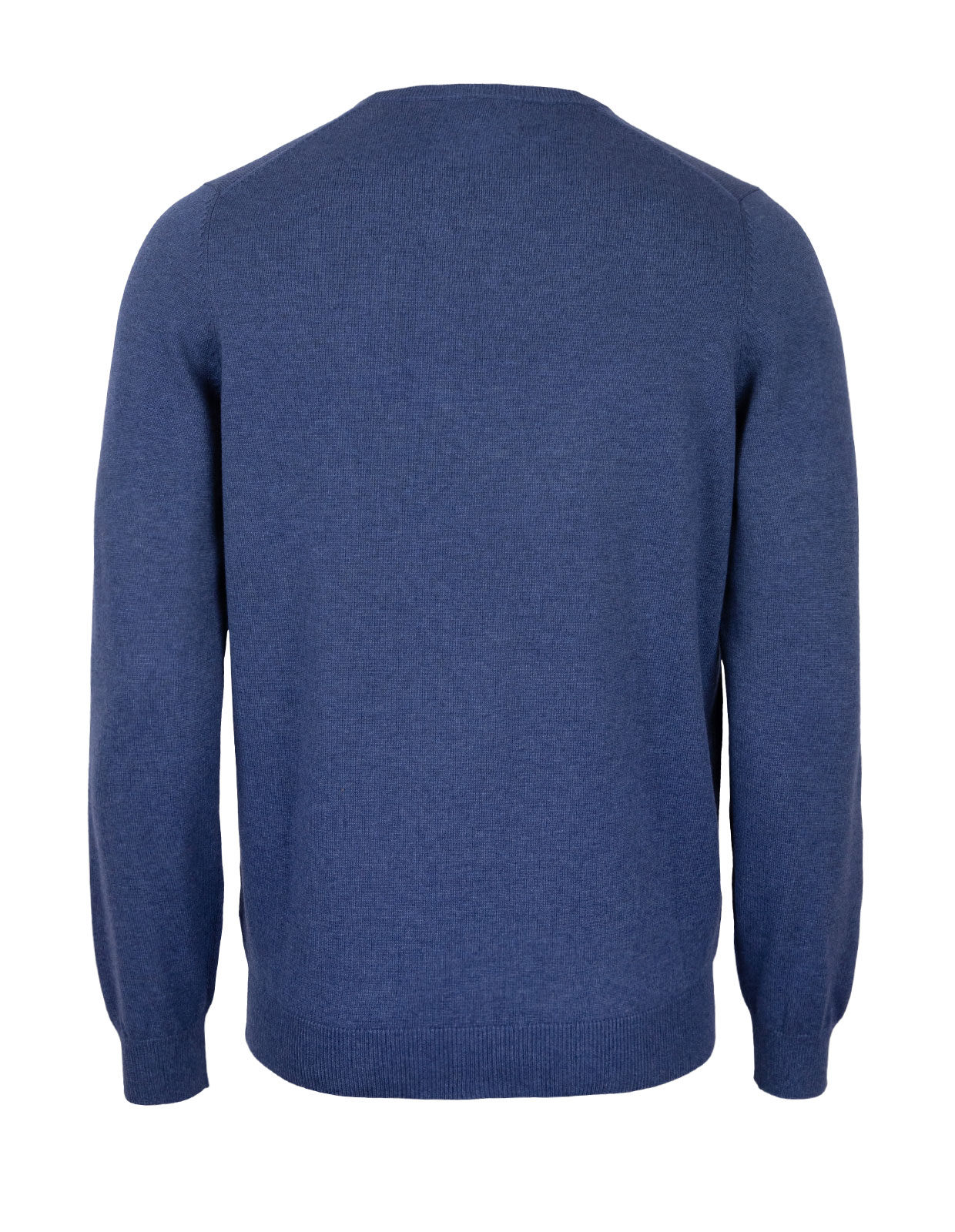 Leysmill Cotton Cashmere Crew Neck Jumper Indigo