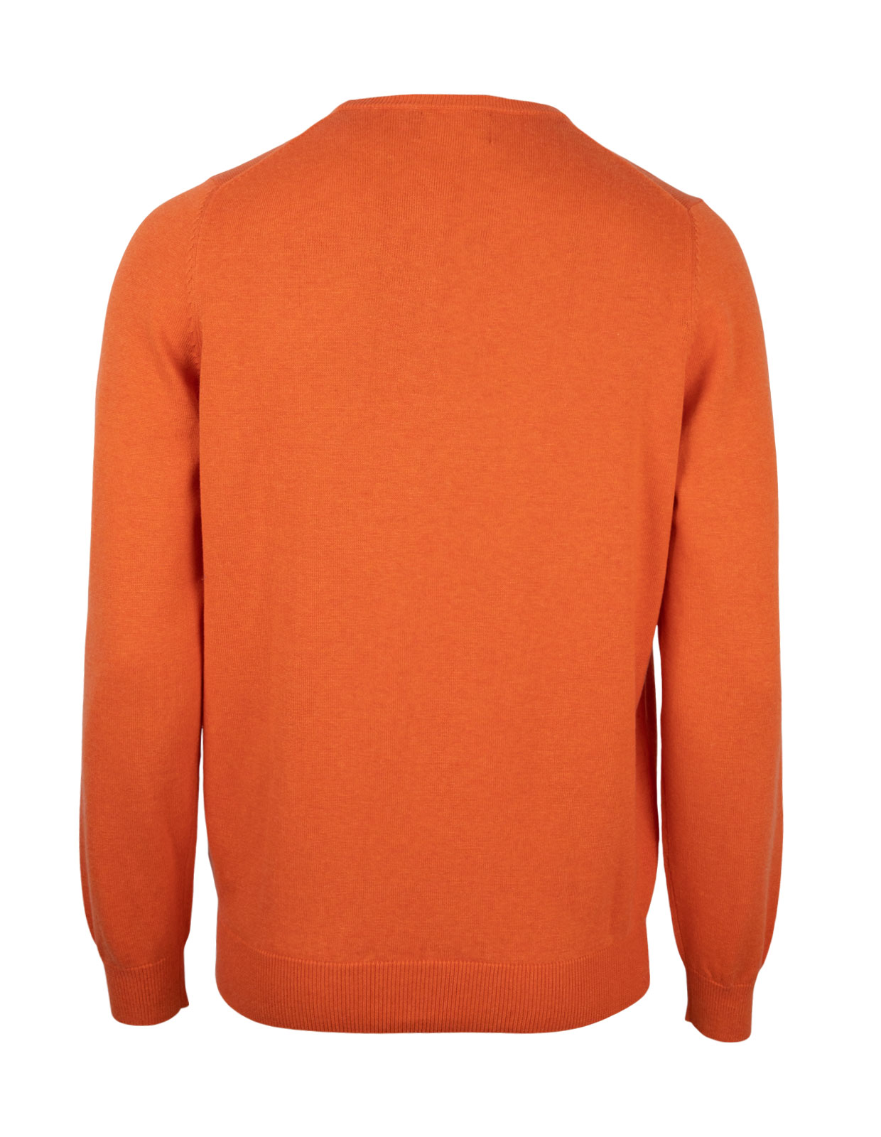Leysmill Cotton Cashmere Crew Neck Jumper Blazing Orange