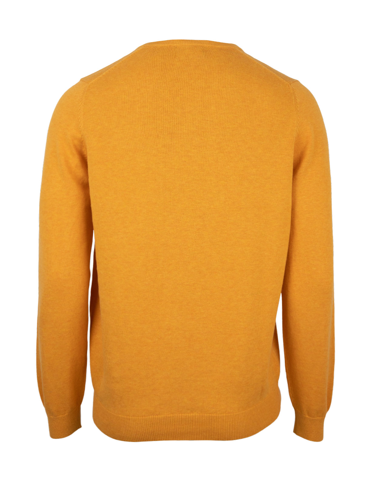 Leysmill Cotton Cashmere Crew Neck Jumper Sunrise
