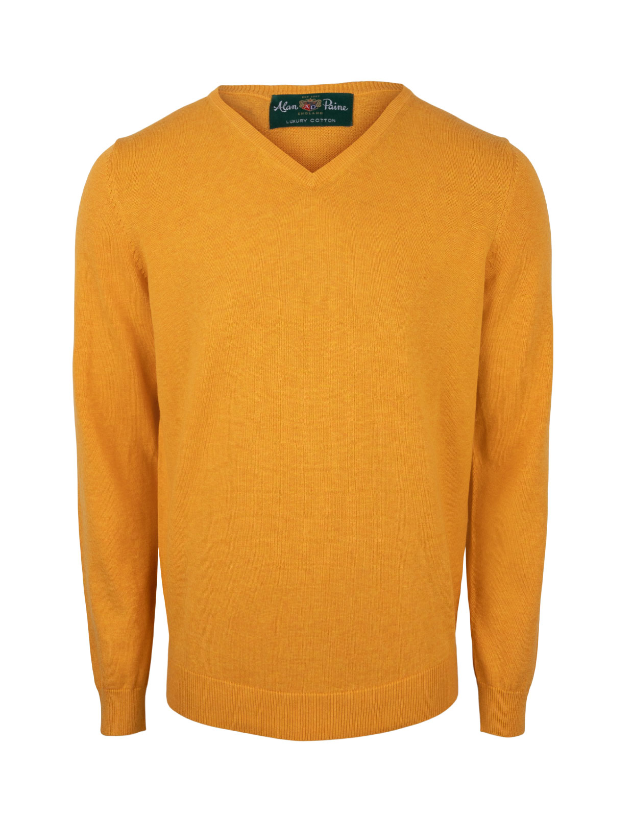 Rothwell Vee Neck Cotton Cashmere Sunrise