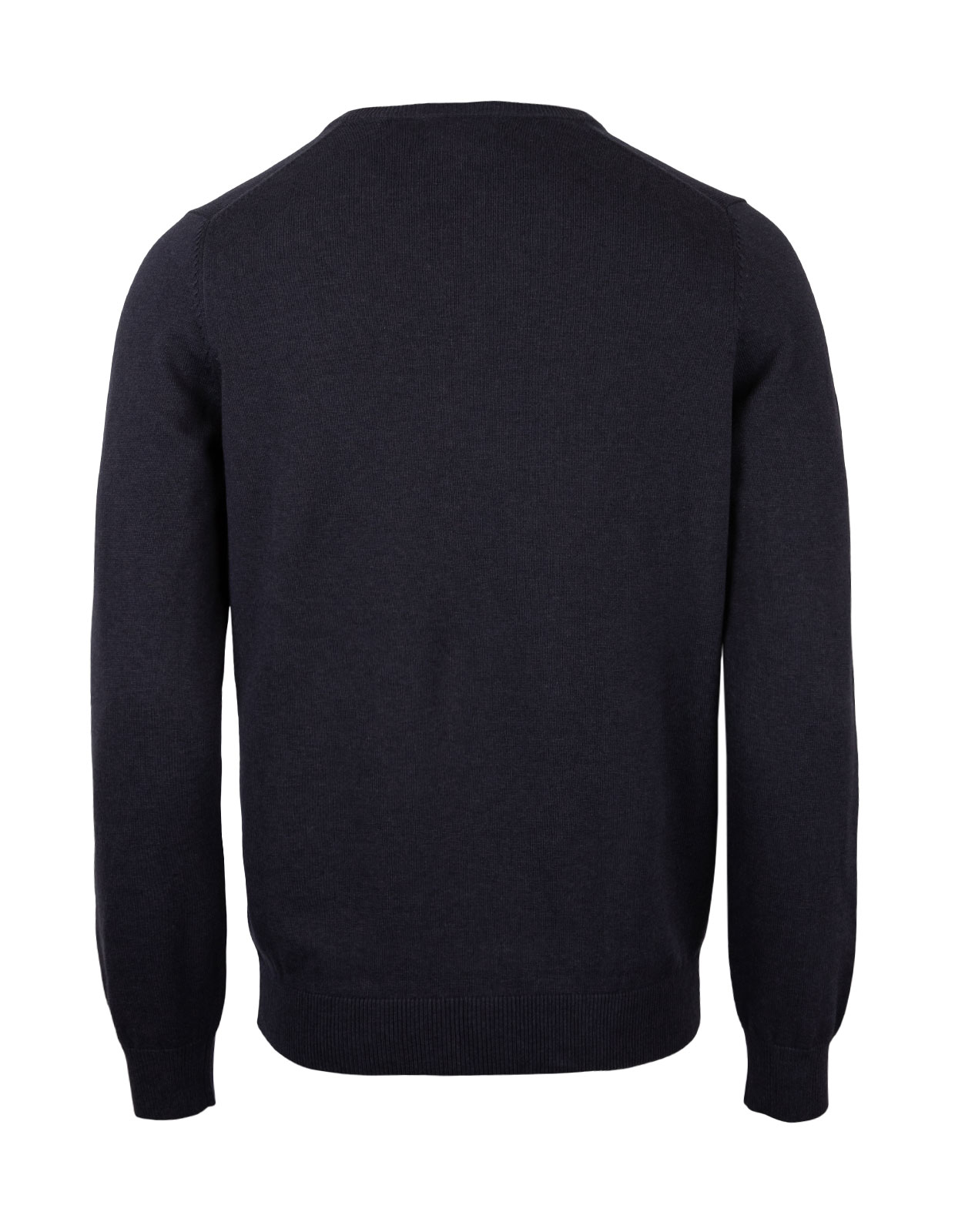 Rothwell Vee Neck Cotton Cashmere Dark Navy