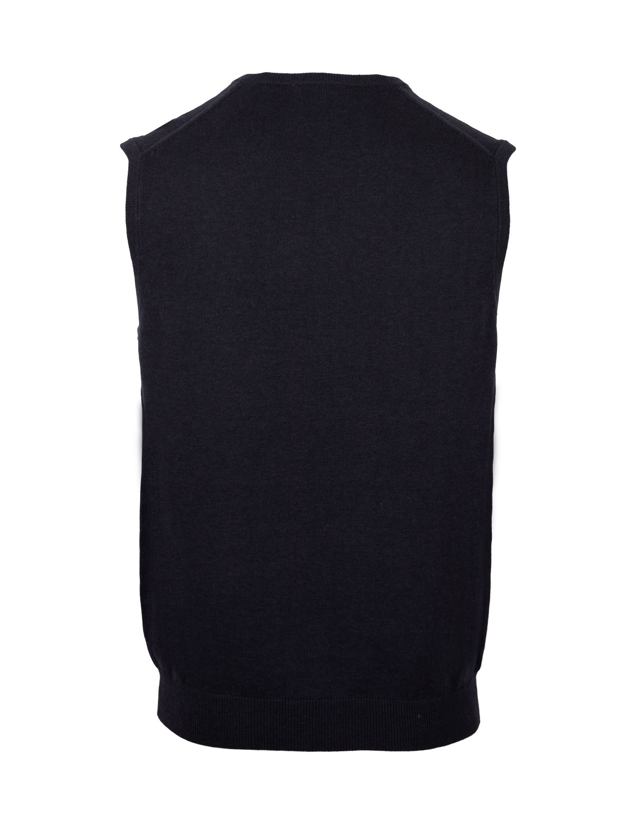 Ellerby Cotton Cashmere Vee Neck Slipover Dark Navy