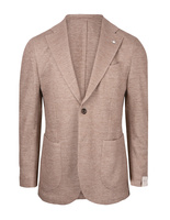 Jack Regular Jersey Jacket Linen Cotton Beige