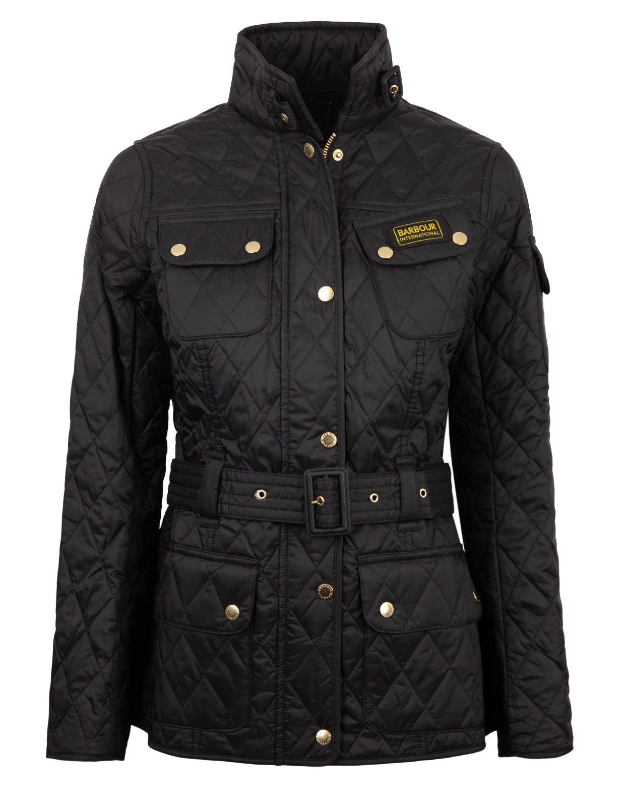 International Quilted Jacket Black