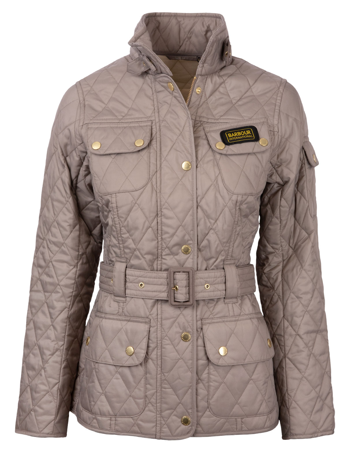International Quilted Jacket Taupe/Pearl