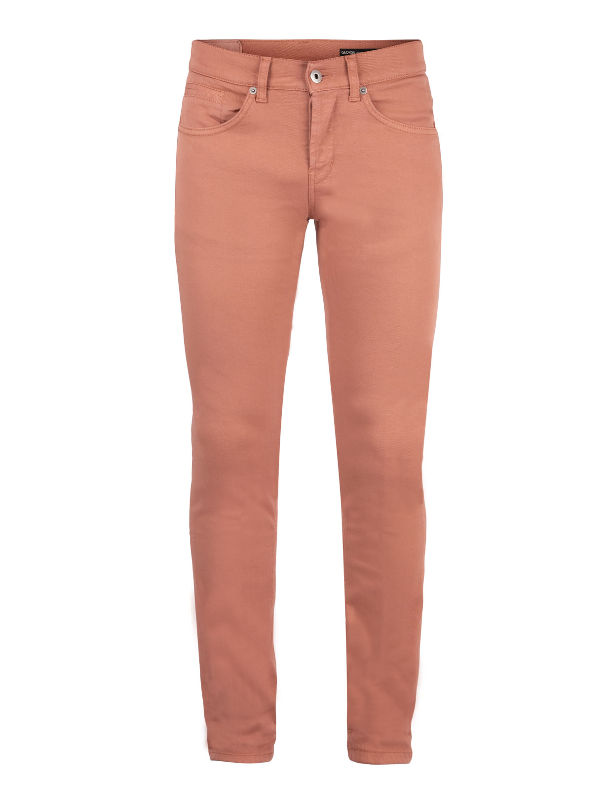 George Skinny Jeans Bull Denim Stretch Burnt Orange