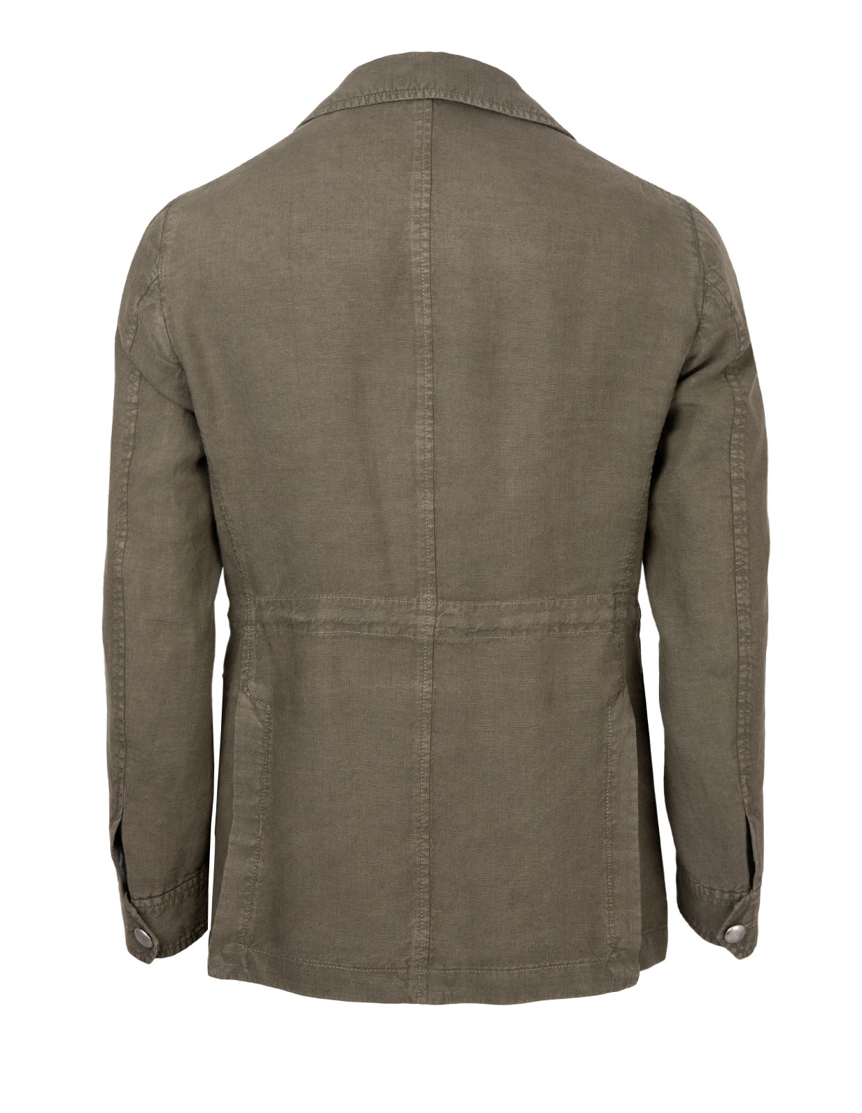 Ned Regular Safari Jacket Linnen Olive