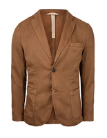 Davinci Safari Slim Fit Blazer Linen Cotton Tobacco