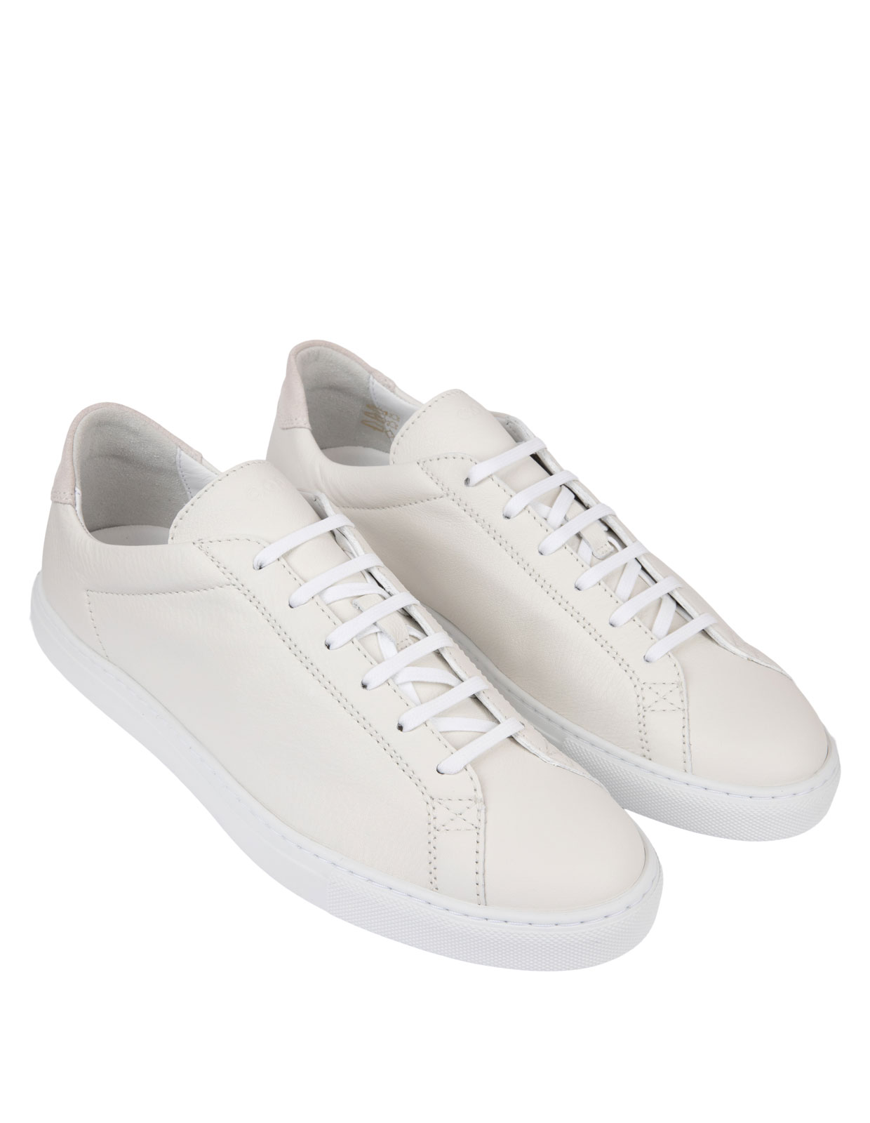 Racquet Unlined Leather Sneaker White