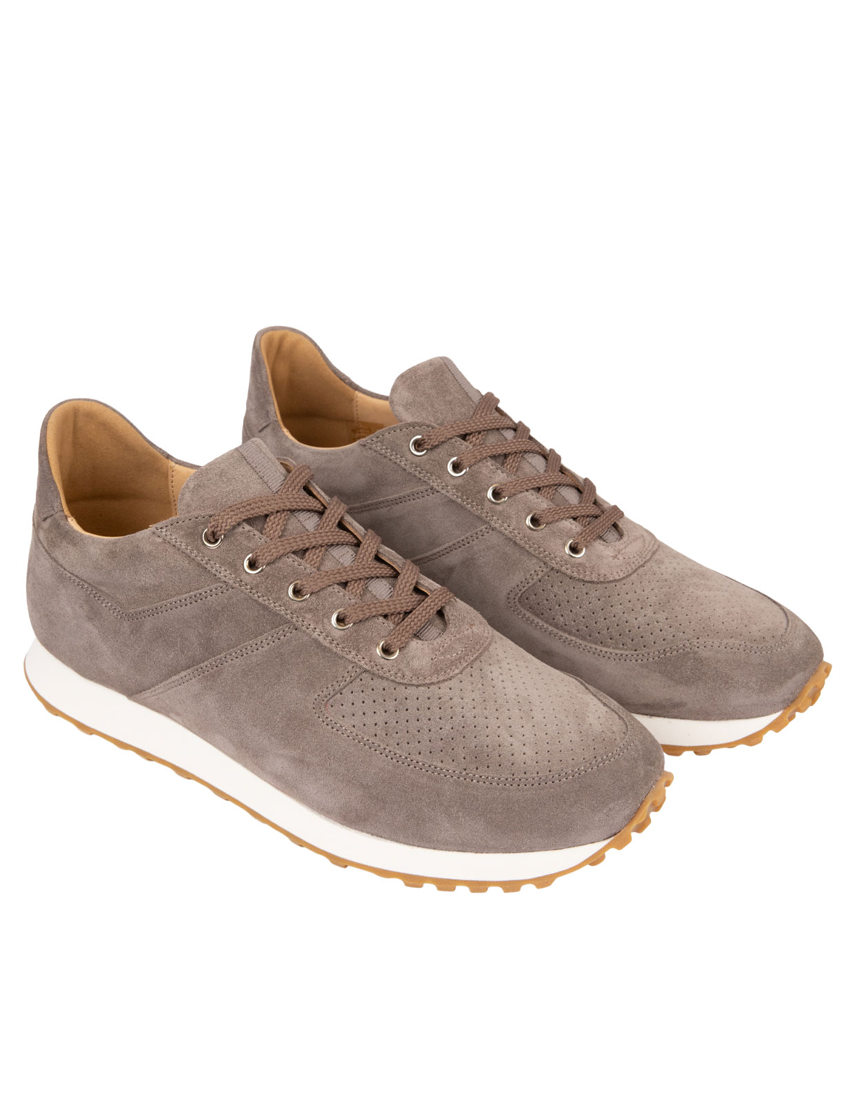 Stride Suede Sneakers Taupe
