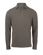 Polo Shirt Long Sleeve Vintage Cotton Olive Stl 58
