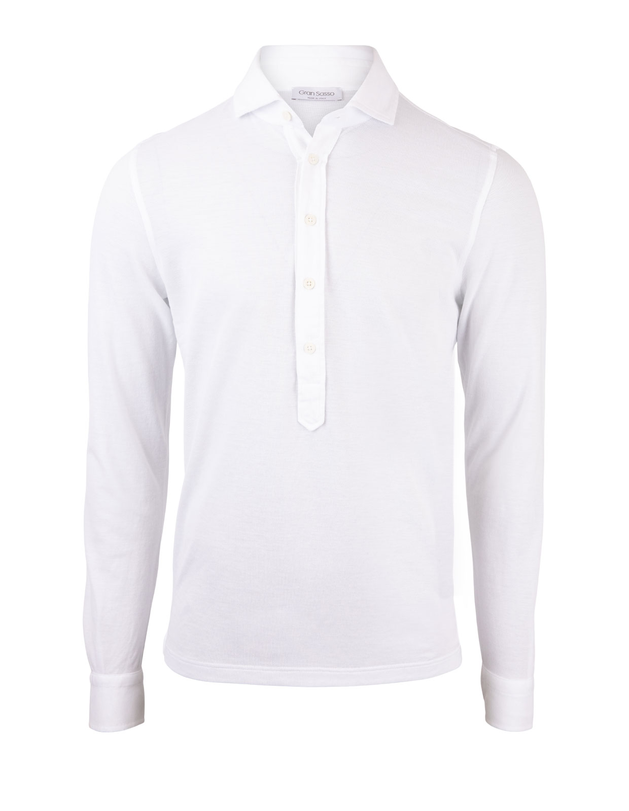 Popover Polo Jersey Shirt White