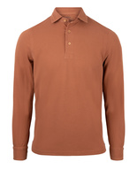 Polo Shirt Long Sleeve Vintage Cotton Camel