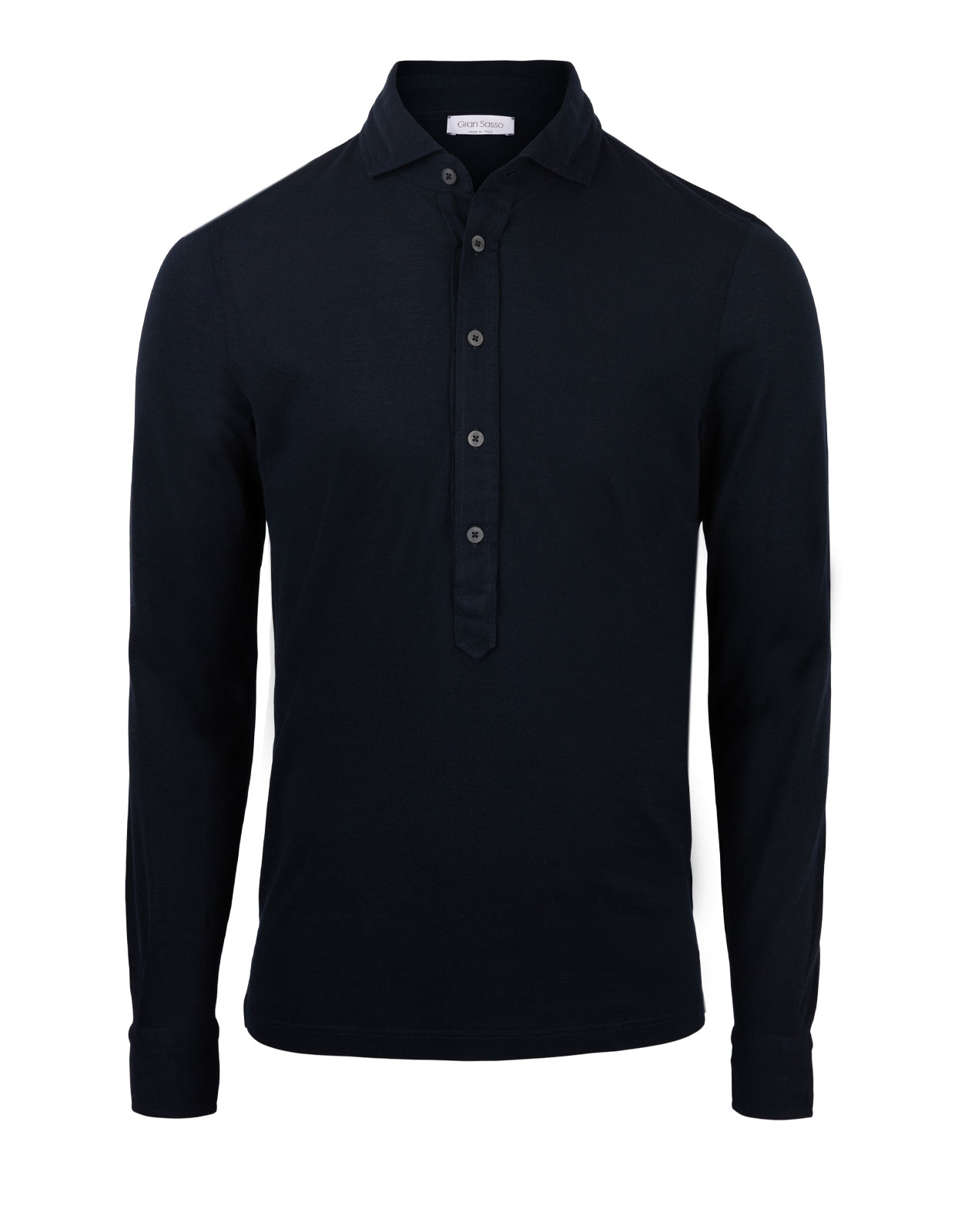 Popover Polo Jersey Shirt Navy