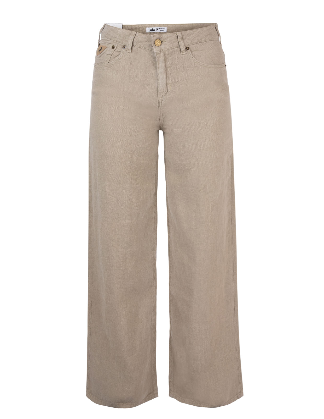 Trouser Linnen Olive Grey