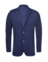 Knitted Linen Cotton Jersey Blazer Navy
